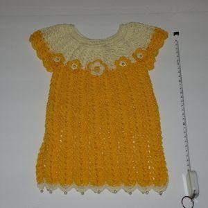 Other - Newborn crochet babygirl dress. YELLOW